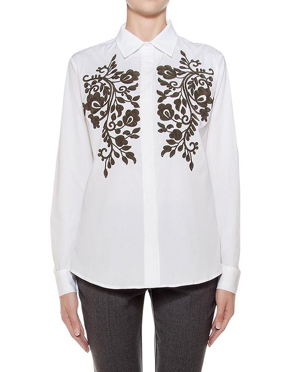 рубашка классического кроя из хлопка, украшена фактурной вышивкой артикул CONSU380518 марки P.A.R.O.S.H. купить за 13500 руб.
