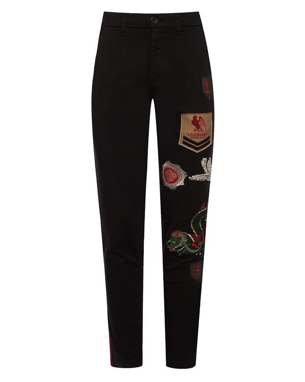 брюки  из хлопка с нашивками  артикул CORAX230132ZB марки P.A.R.O.S.H. купить за 25500 руб.