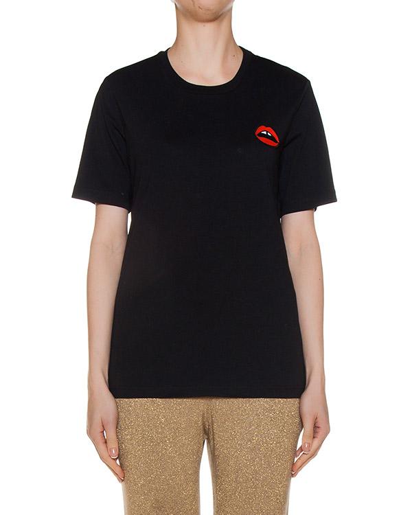 футболка из трикотажа с аппликацией артикул CTP002 марки Markus Lupfer купить за 5600 руб.