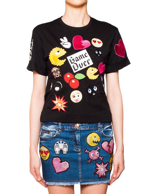 женская футболка PHILIPP PLEIN, сезон: лето 2016. Купить за 22300 руб. | Фото 1