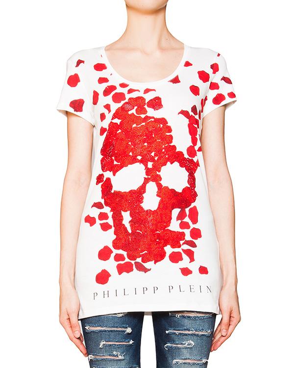 женская футболка PHILIPP PLEIN, сезон: лето 2016. Купить за 15200 руб. | Фото 1