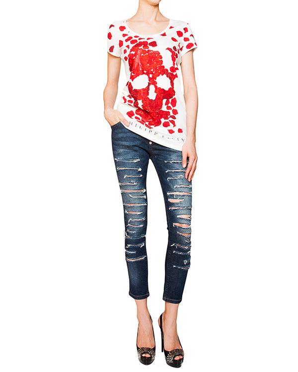 женская футболка PHILIPP PLEIN, сезон: лето 2016. Купить за 15200 руб. | Фото 3