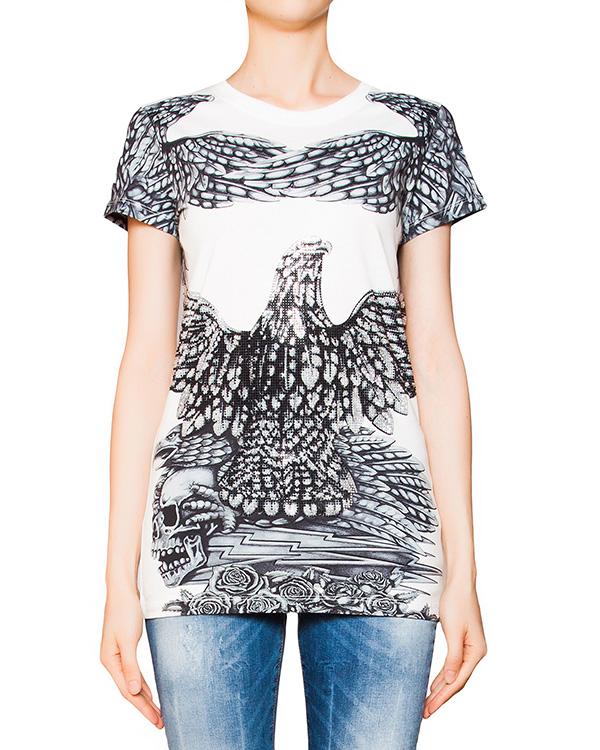 женская футболка PHILIPP PLEIN, сезон: лето 2016. Купить за 19300 руб. | Фото 1