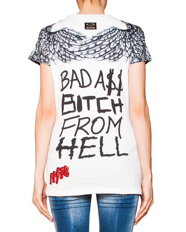 женская футболка PHILIPP PLEIN, сезон: лето 2016. Купить за 19300 руб. | Фото 2