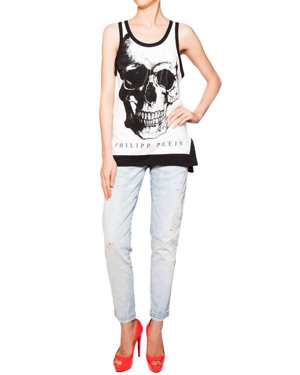 женская футболка PHILIPP PLEIN, сезон: лето 2016. Купить за 14700 руб. | Фото 3