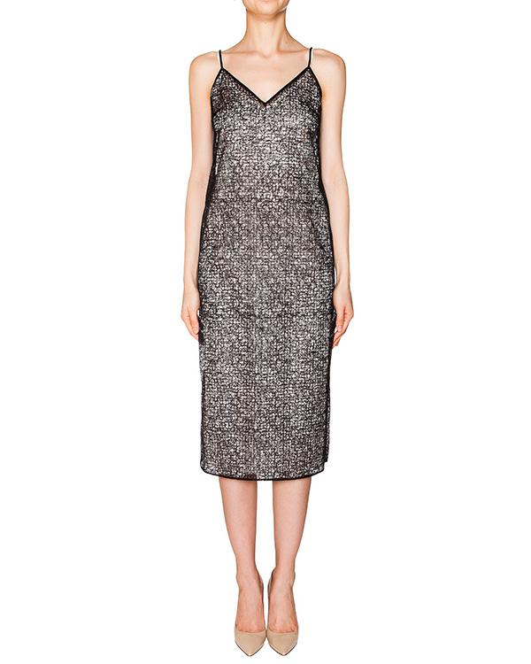 платье комбинация из прозрачной сетки с мелкими пайетками артикул D08110030 марки Graviteight купить за 15000 руб.