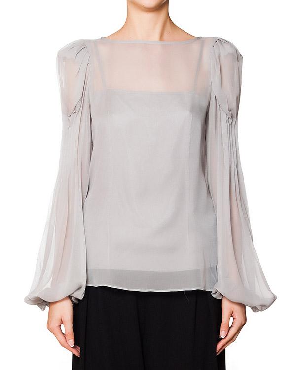 двойка блуза из полупрозрачного шелка с драпировкой и шелковый топ на бретелях артикул D106SS402 марки Thomas Wylde купить за 13800 руб.