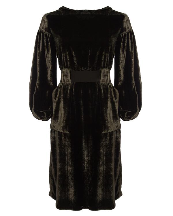 платье миди из бархатной вискозы и шелка артикул D1449453 марки Graviteight купить за 81300 руб.