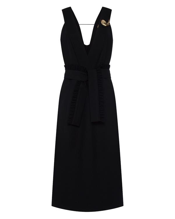 платье миди из шерсти с вырезом-декольте артикул D1471501 марки Graviteight купить за 54300 руб.