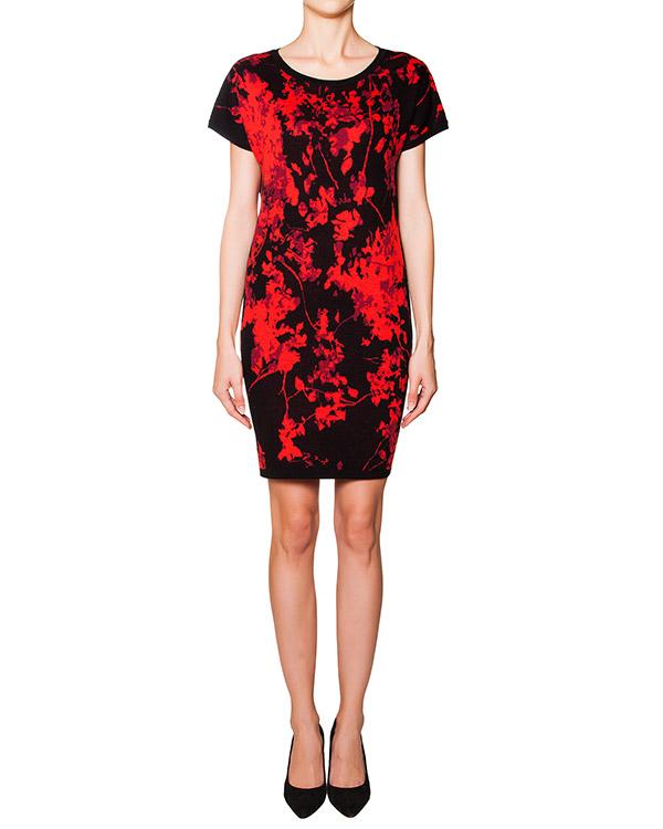 платье из мягкой шерсти с абстрактным рисунком артикул D189001S15 марки DIANE von FURSTENBERG купить за 16300 руб.