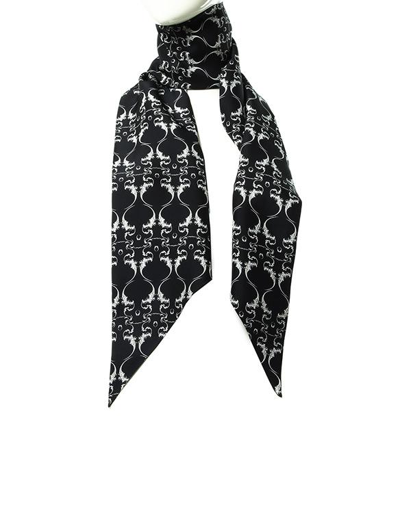 шарф из плотного шелка с контрастным рисунком артикул D2SCF02 марки Thomas Wylde купить за 18000 руб.