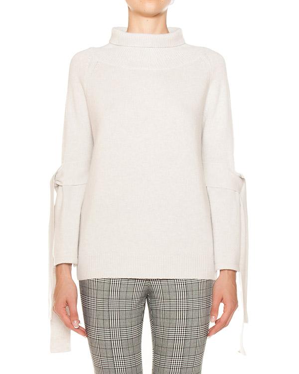 свитер из шерсти и кашемира с завязками артикул D315M349VEF марки ERMANNO SCERVINO купить за 48800 руб.
