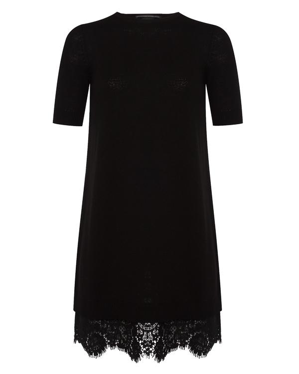 платье из шерсти и плотного кружева артикул D315Q308HMA марки ERMANNO SCERVINO купить за 85300 руб.
