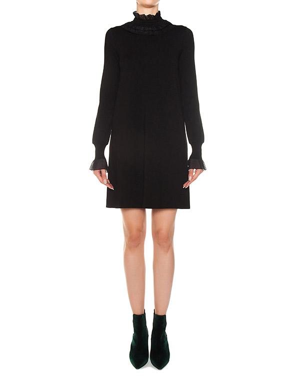 платье из трикотажной шерсти  артикул D315Q310PYI марки ERMANNO SCERVINO купить за 86800 руб.