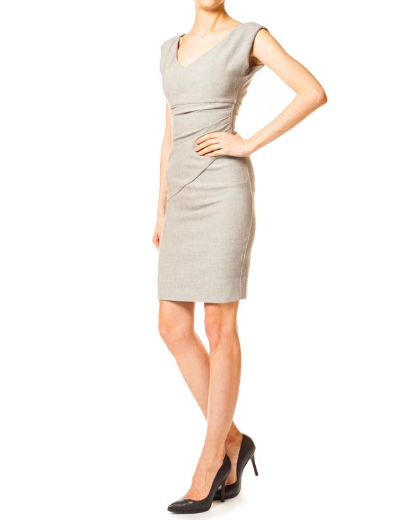 платье футляр лаконичного кроя со сборками, модель Bevin артикул D7046232 марки DIANE von FURSTENBERG купить за 9400 руб.