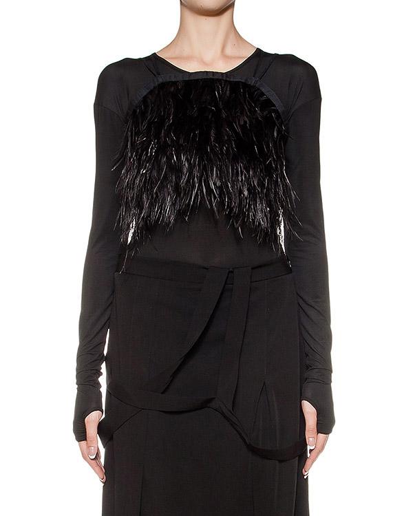 топ из перьев страуса артикул DA02F16 марки Isabel Benenato купить за 58500 руб.