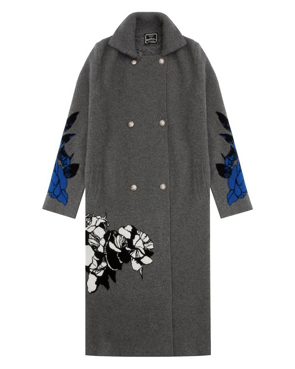 пальто из трикотажной шерсти с цветочным принтом артикул DCFLOLCOAT марки Gemma H купить за 39900 руб.