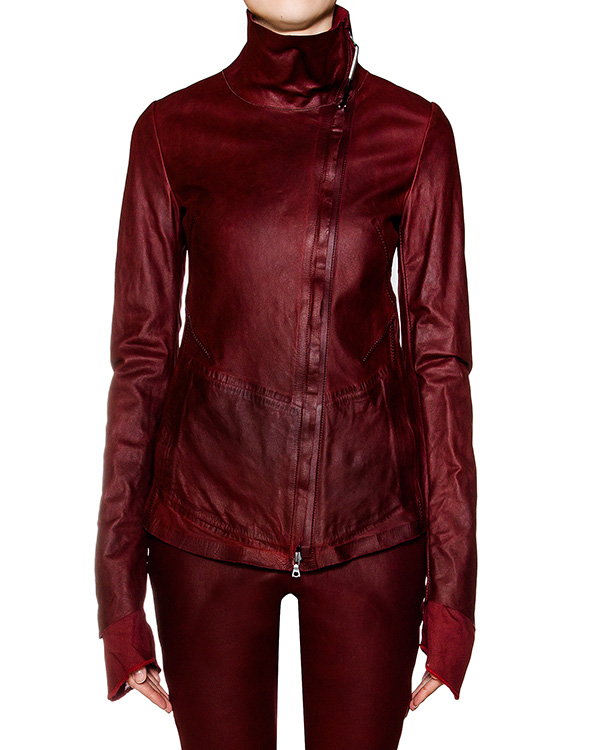 куртка из натурально кожи с металлической фурнитурой артикул DESAXEE1 марки Isaac Sellam купить за 84900 руб.
