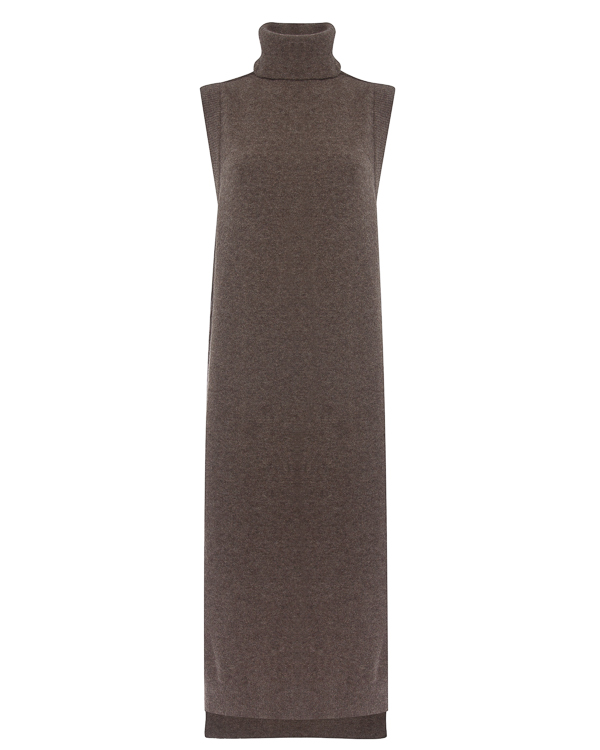 платье из трикотажной шерсти  артикул DK12F17 марки Isabel Benenato купить за 32700 руб.