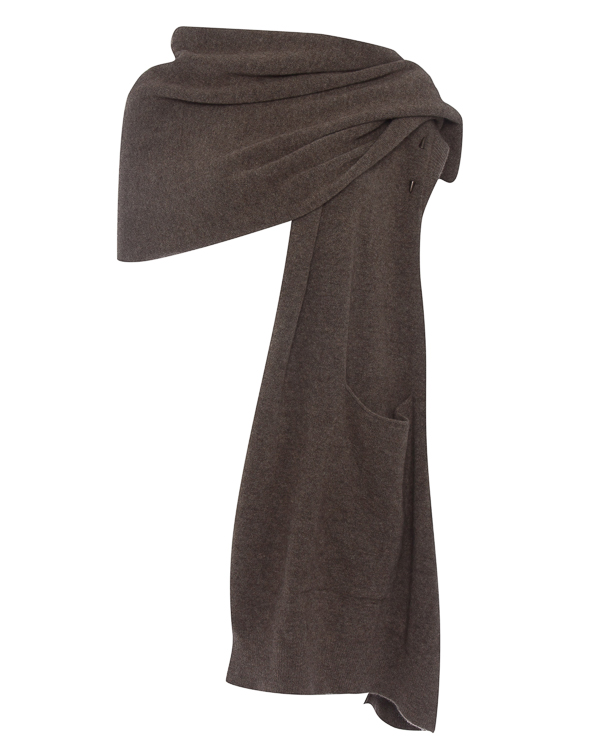 кардиган  шарф из шерсти с карманами  артикул DK20F17 марки Isabel Benenato купить за 31100 руб.