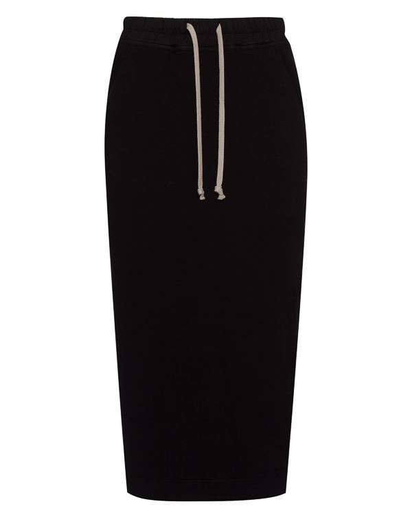 юбка миди из трикотажного хлопка артикул DS17F2342F марки RICK OWENS DRKSHDW купить за 29400 руб.