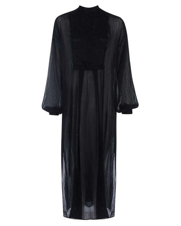 платье макси из полупрозрачного хлопка  артикул DW22F17 марки Isabel Benenato купить за 41400 руб.
