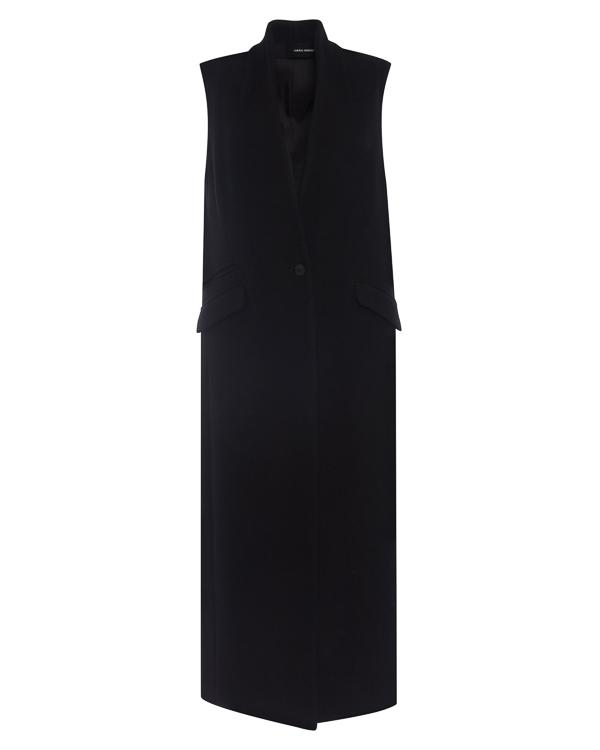жилет удлиненного силуэта из плотной шерсти артикул DW63F17 марки Isabel Benenato купить за 76200 руб.