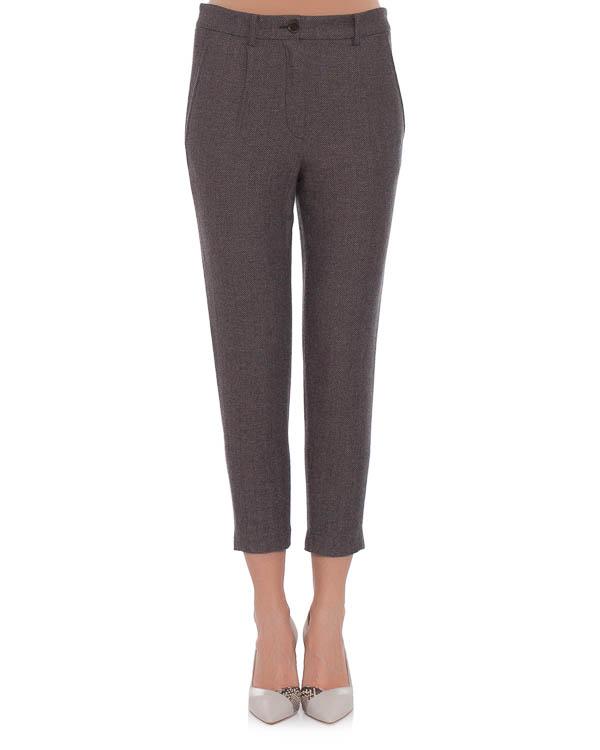 брюки зауженного силуэта, с боковыми прорезными карманами артикул E01237 марки SEMI-COUTURE купить за 8800 руб.