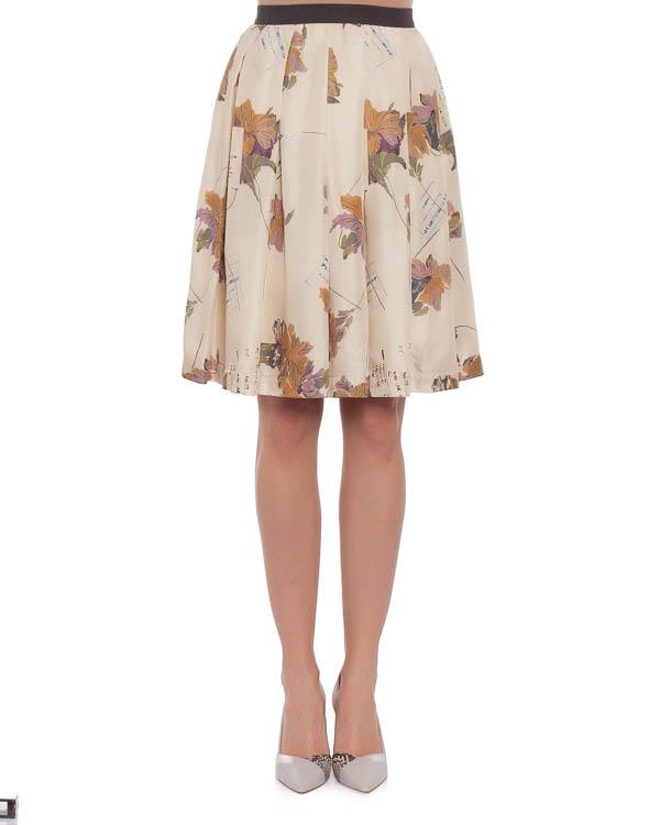юбка с посадкой на талии и эффектным абстрактным принтом артикул E01448 марки SEMI-COUTURE купить за 14700 руб.