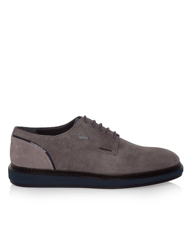 туфли из плотной замши на контрастной подошве артикул E9070 марки Harmont & Blaine купить за 18100 руб.
