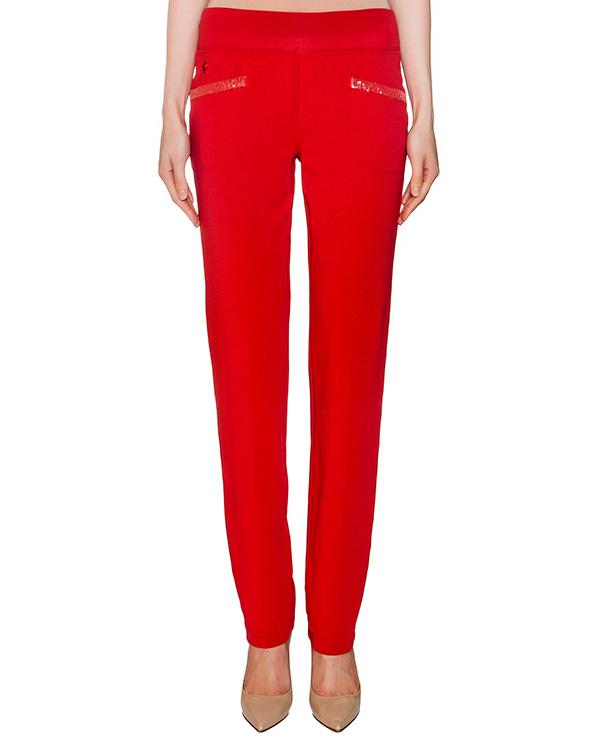 брюки из хлопкового трикотажа с отделкой из пайеток артикул EE07FU марки European Culture купить за 4300 руб.