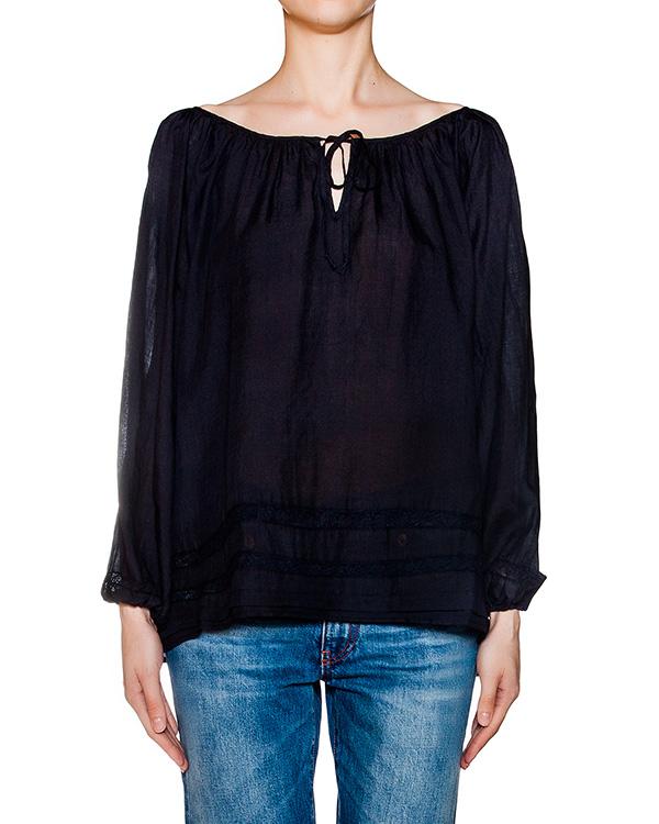 блуза свободного кроя из легкой тонкой ткани артикул EE6500 марки European Culture купить за 7700 руб.