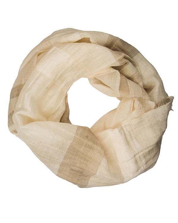 шарф из микса льна и хлопка артикул EES930 марки European Culture купить за 2700 руб.