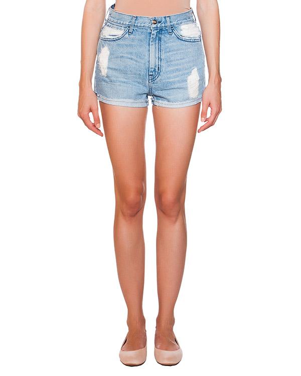 шорты из плотного денима с потертостями артикул F021012R марки Koral купить за 7300 руб.