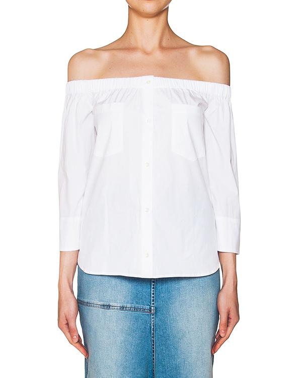 блуза с открытыми плечами, из тонкого хлопка артикул FARAH марки Sara Roka купить за 12000 руб.