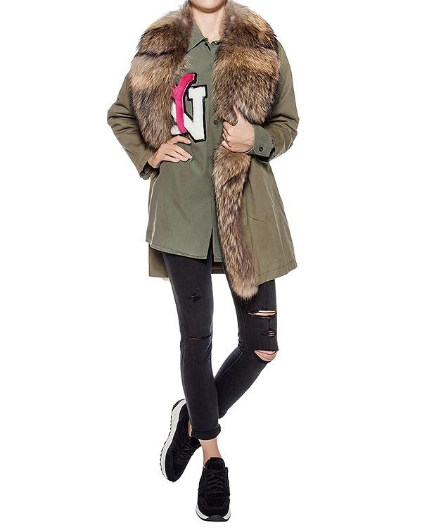 женская парка Forte Couture, сезон: зима 2016/17. Купить за 55500 руб. | Фото 3