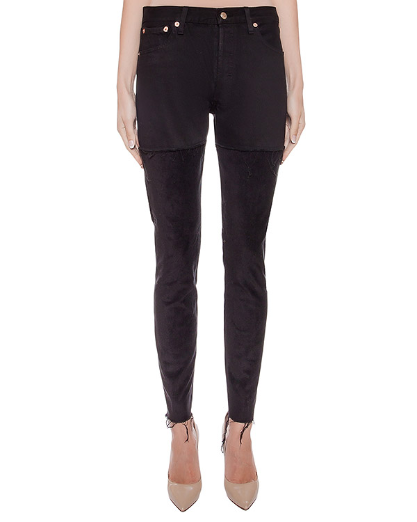 джинсы комбинированные из денима и вельвета артикул FCFW1644 марки Forte Couture купить за 15900 руб.