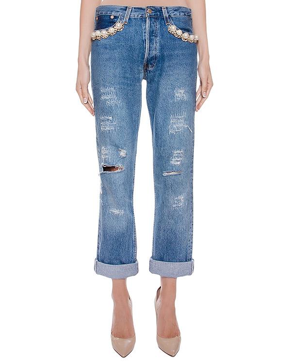 женская джинсы Forte Couture, сезон: зима 2016/17. Купить за 13200 руб. | Фото 1