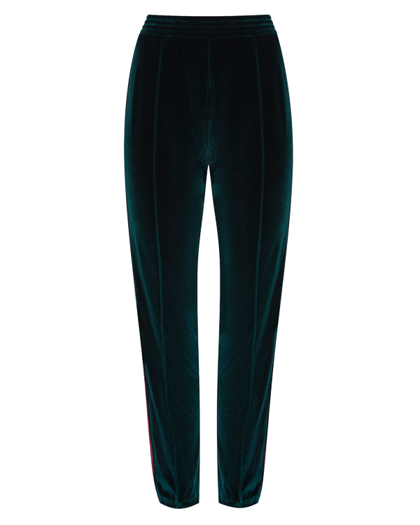 брюки из бархата с контрастными лампасами артикул FCFW1749 марки Forte Couture купить за 26200 руб.