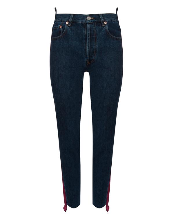 джинсы с высокой посадкой на талии и бархатной отделкой артикул FCFW1753 марки Forte Couture купить за 27000 руб.