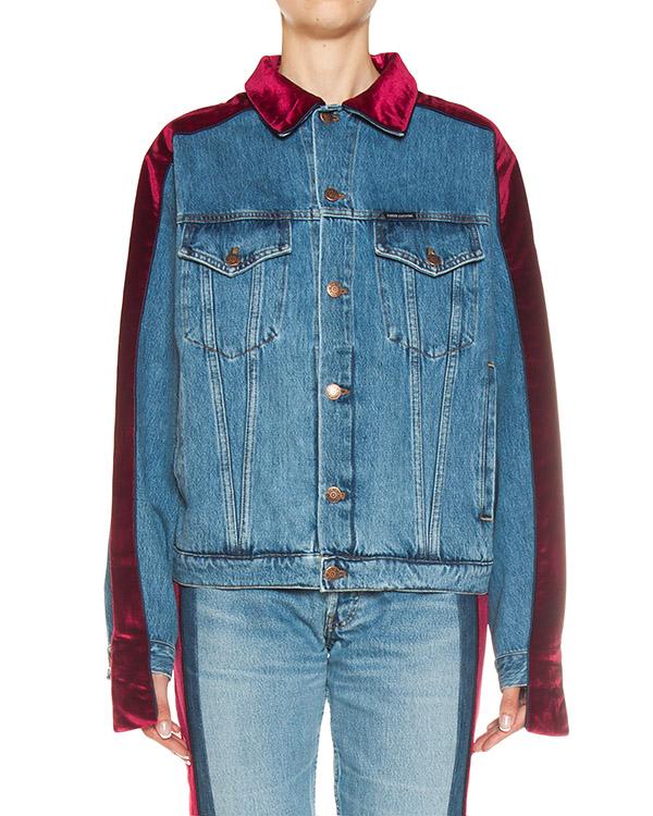 куртка из плотного денима с контрастными вставками артикул FCFW1763 марки Forte Couture купить за 30200 руб.