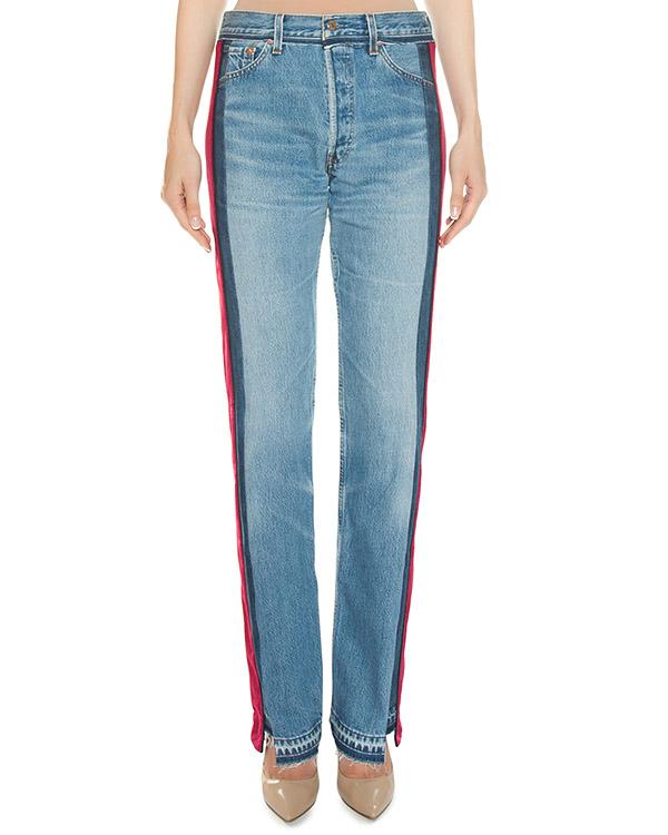 джинсы с контрастными бархатными лампасами артикул FCFW1769 марки Forte Couture купить за 41600 руб.