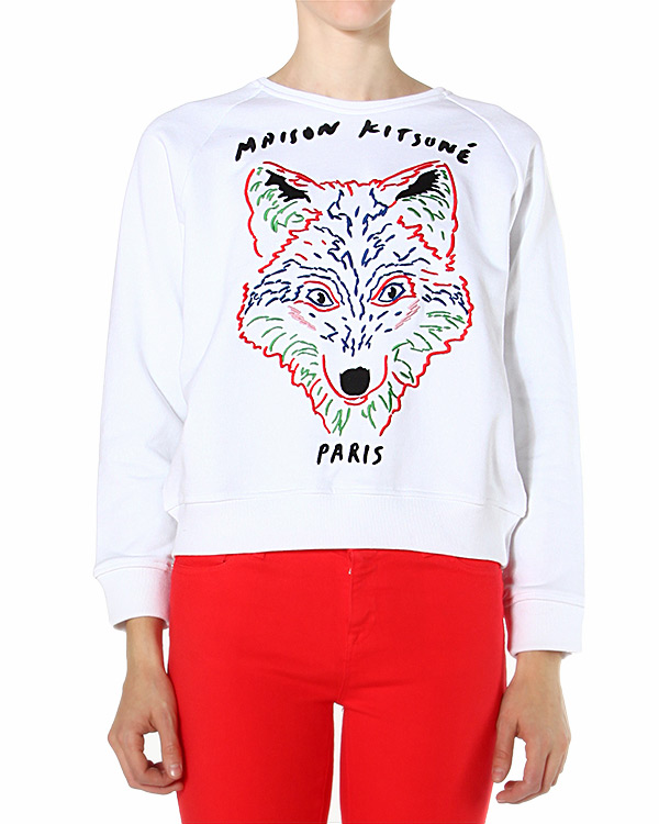 женская свитшот Maison Kitsune, сезон: зима 2014/15. Купить за 7500 руб. | Фото 1