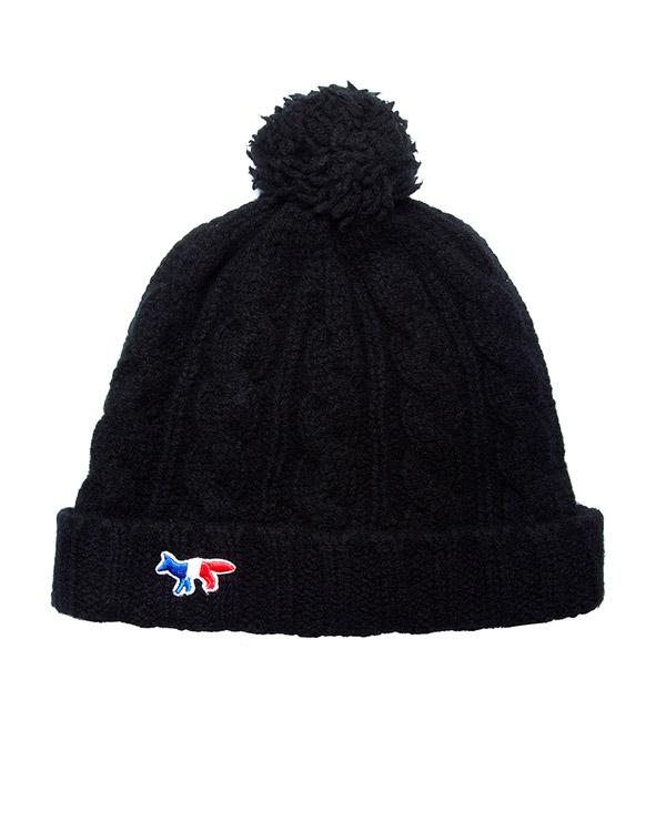 шапка из мягкой шерсти ягнёнка с логотипом бренда артикул FW15U821 марки Maison Kitsune купить за 5900 руб.