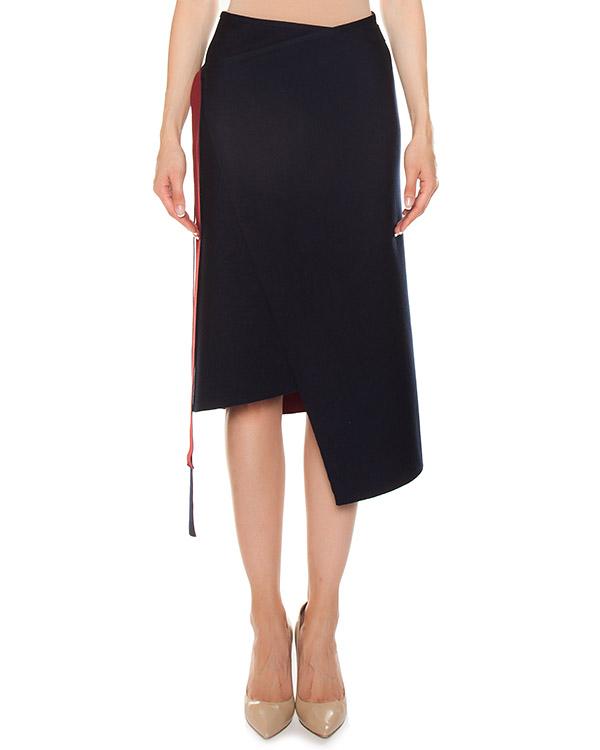 юбка на запах из трикотажной шерсти с добавлением кашемира и шелка артикул FW170098 марки MRZ купить за 35900 руб.