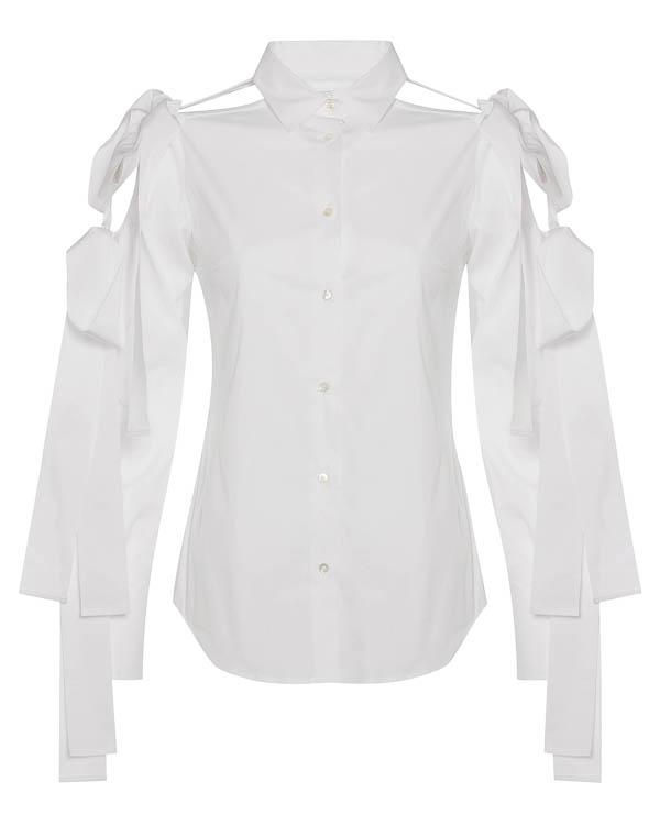 блуза из хлопка с завязками на банты  артикул FW1701 марки Sara Roka купить за 27600 руб.