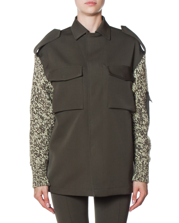 рубашка из плотного кашемира с вязаными шерстяными рукавами артикул FW170275 марки MRZ купить за 67900 руб.