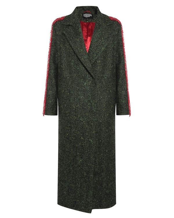 пальто из шерсти-букле с отделкой бисером и пайетками артикул FW17813decorlong марки KATЯ DOBRЯKOVA купить за 46800 руб.