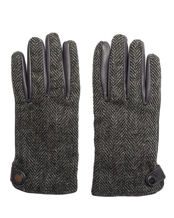 перчатки из твида и кожи артикул G0080 марки Harmont & Blaine купить за 7700 руб.