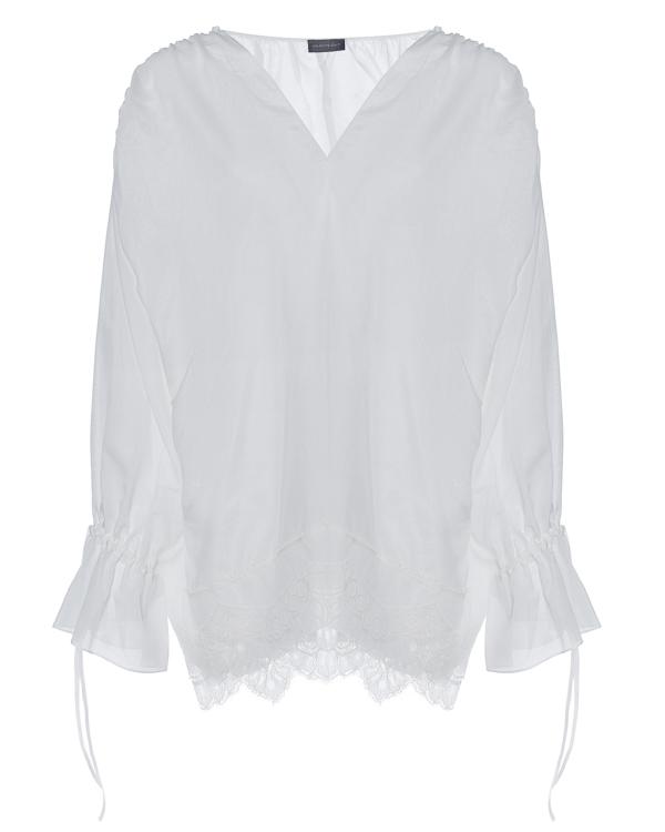 блуза свободного силуэта с отделкой кружевом артикул G07BL076 марки Graviteight купить за 29300 руб.